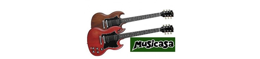 SG-guitarra electrica con doble corte