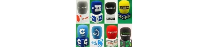 cubo accesorio micrófono publicidad broadcast
