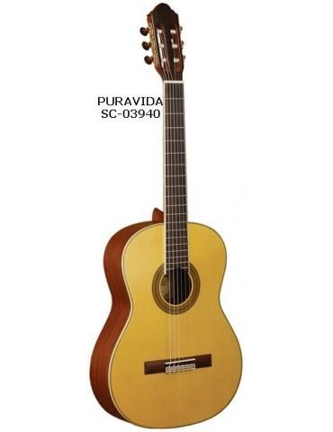 """PURAVIDA SC-03940 Guitarra Clsica 4/4 39"""" Tapa S¢lida de Picea"""