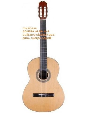 ADMIRA ALBA 3/4 Guitarra clasica tapa pino, cuerpo sapelli, Cadete