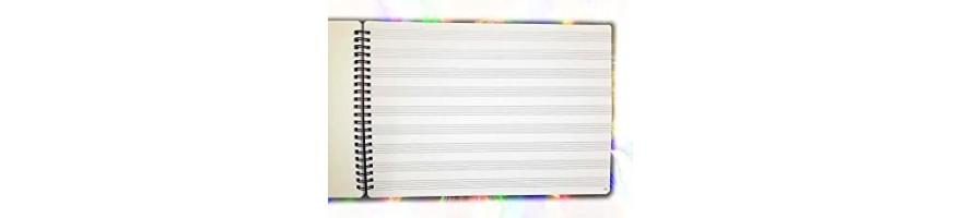 Cuadernos de pentagramas