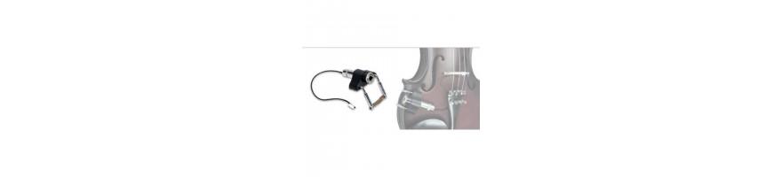 pickups for bow instruments -  violin, viola,  doublebass pickups