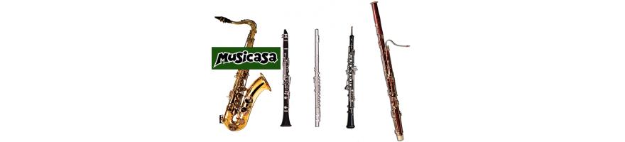instrumentos de viento musicasa, somos especialistas