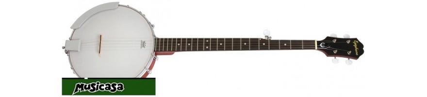 Musicasa compra banjo - instrumento musical de 4, 5, 6 ó 10 cuerdas,