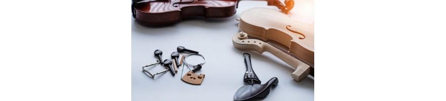 accesorios y repuestos varios para violín
