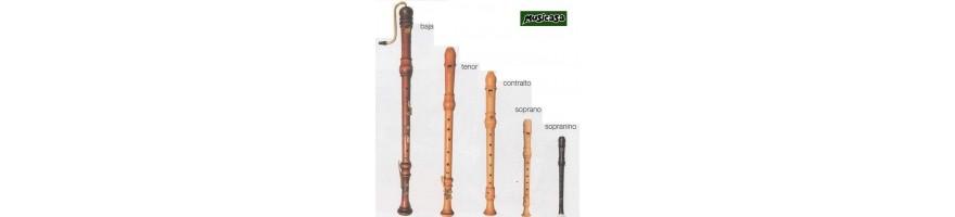 flautas dulce bajo