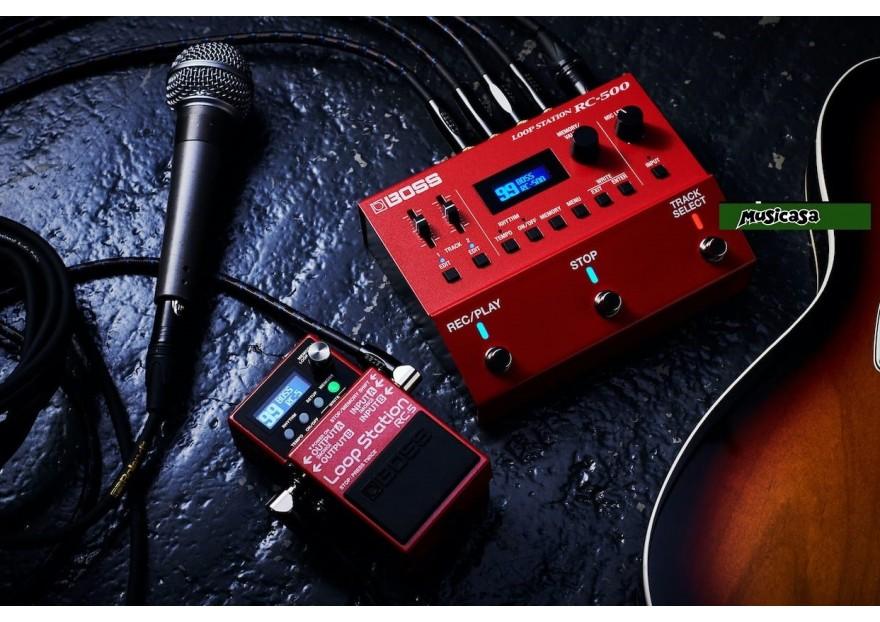 El pedal Boss RC-500 es el complemento ideal para guitarristas,   ukes,  cantantes,   deejays, productores,  compositores